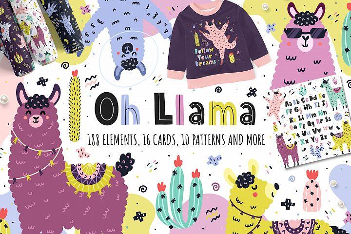 Oh Llama Graphic Pack