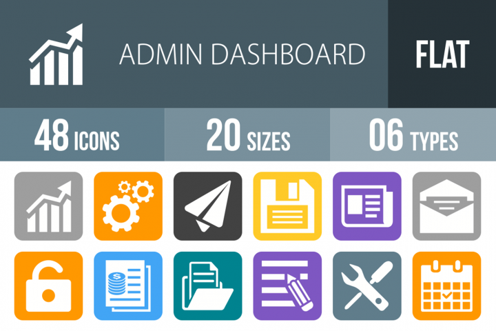 48 Admin Dashboard Filled Round Corner Icons