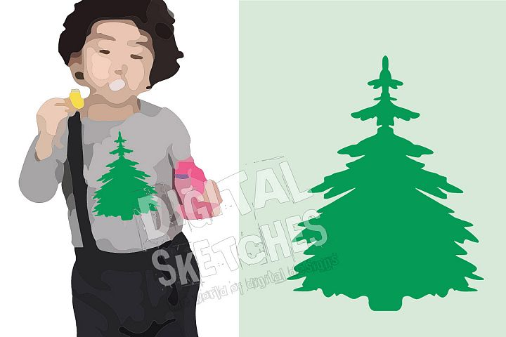 Fir Tree Vector Graphic, Tree Cut File, Forest SVG