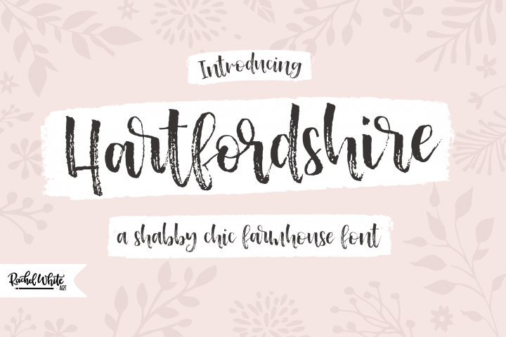 Hartfordshire, a shabby chic farmhouse font