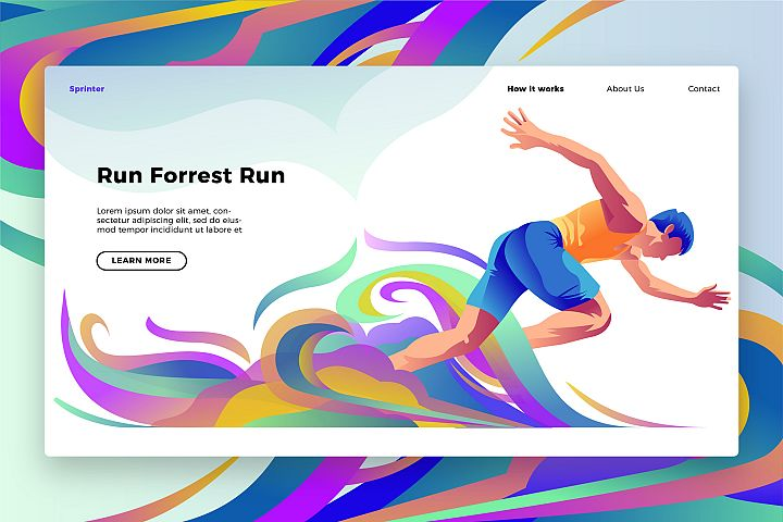 Sprinting Banner & Landing Page