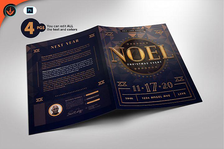 Gold Art Deco Gala Program Template