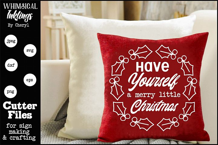 Merry Little Christmas-Round SVG