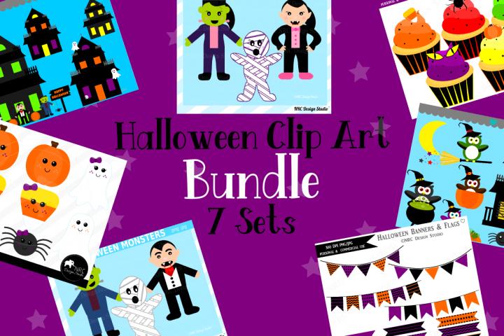 Halloween Clipart Graphics Bundle, Illustrations