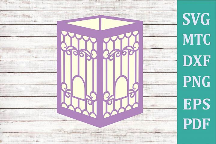 3D Paper Lantern Style #03 Bird Cage Design #09 Party Decor