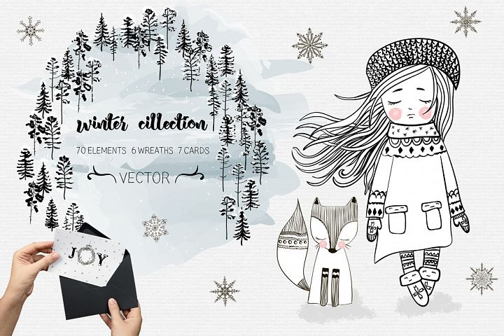 Winter collection. Big holliday set