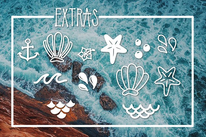Mermaid Tails a Handwritten Typeface - Free Font of The Week Design 1