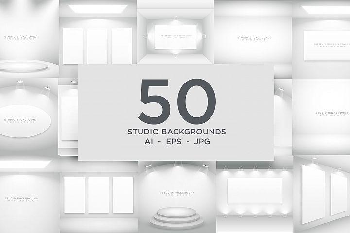 Studio Background Bundle - 50 Vector Designs