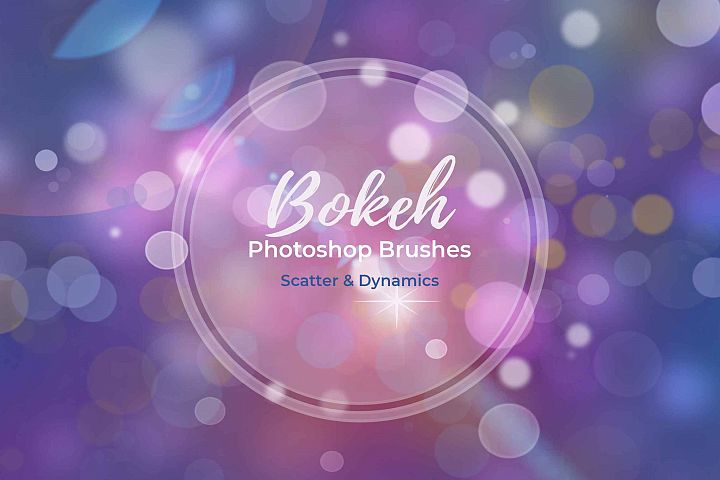 15 Bokeh Photoshop Brushes abr. - Scatter & Dynamics example 4