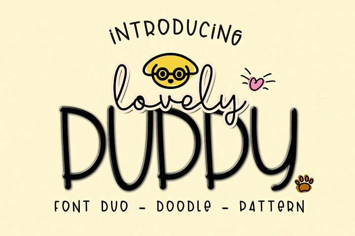 Lovely Puppy - Font duo with bonus - Free Font of The Week