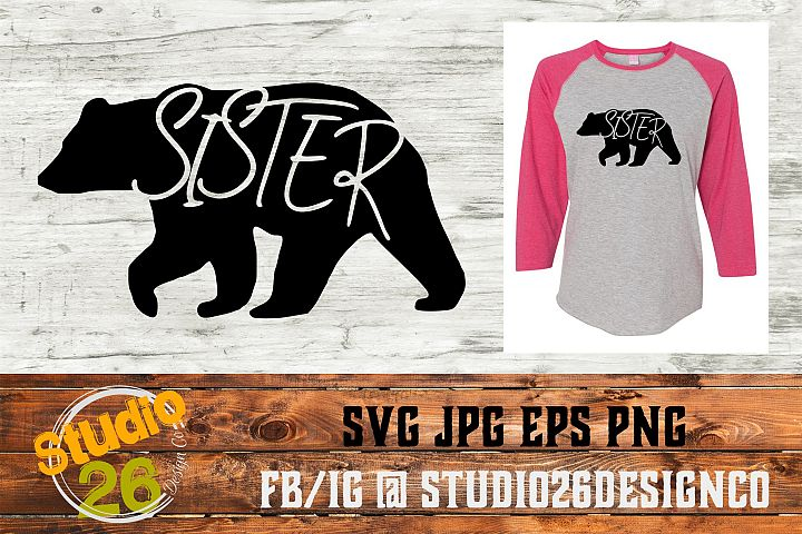 Sister Bear - SVG EPS PNG