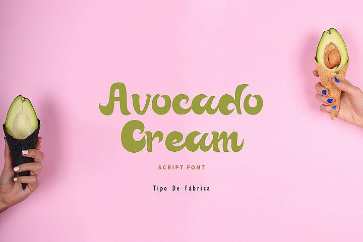 Avocado Cream || Avocado Cream Rough Font