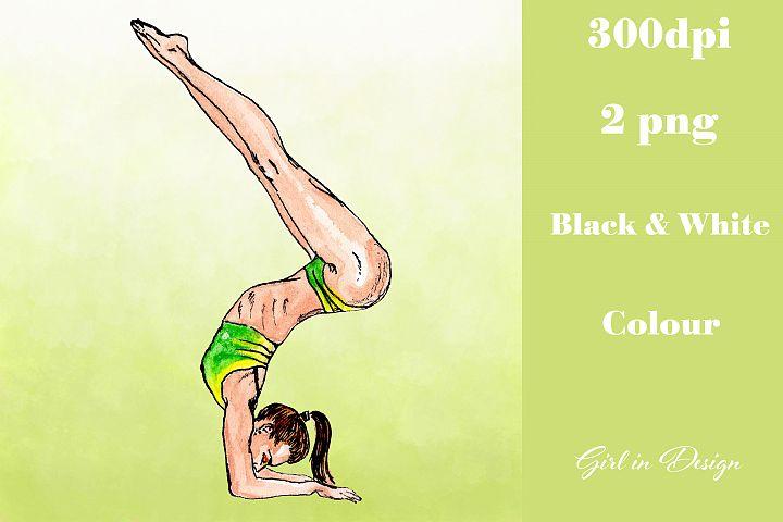Sport Yoga Girl Clipart