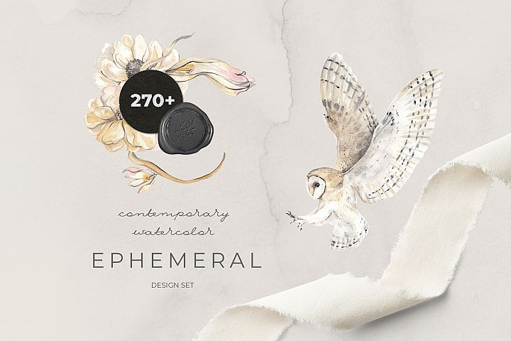 EPHEMERAL contemporary watercolor design set