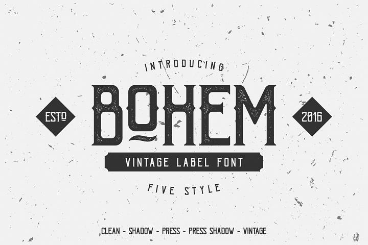 Bohem Typeface - 5 Font Styles