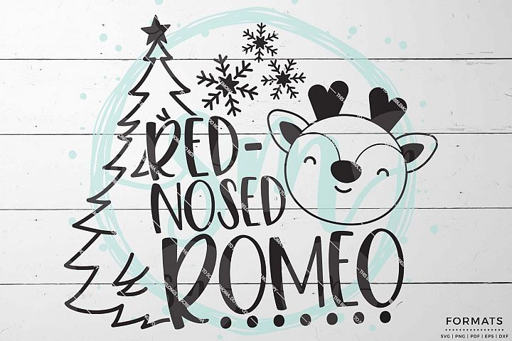 Red Nosed Romeo Christmas SVG Files for Cricut