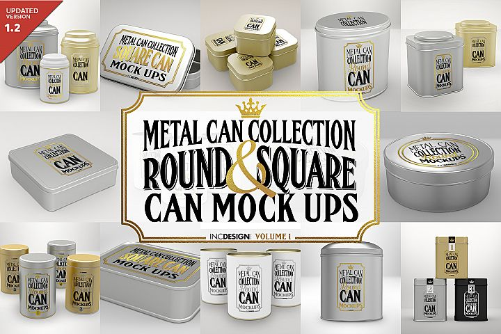 Vol.1 Metal Can Mockup Collection