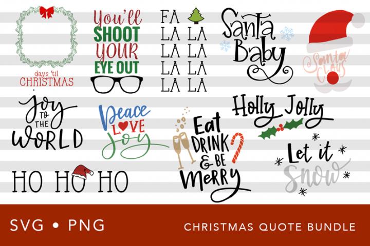 Christmas SVG Quote Bundle