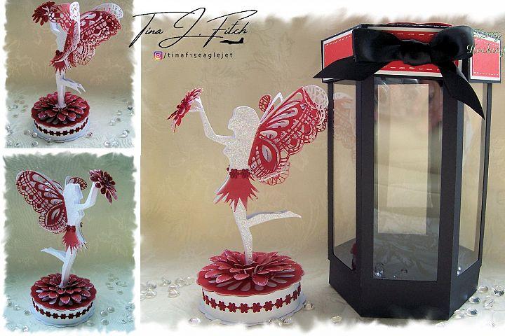 3D Flower Fairy & Box template