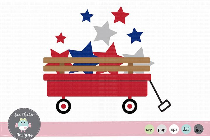 4th of July svg, red wagon svg, cute summer svg, kids svg