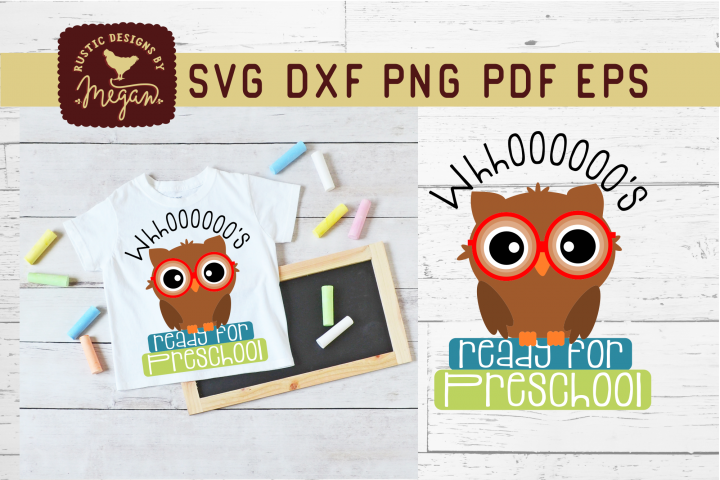 Whooos Ready For Preschool Back To School Owl SVG