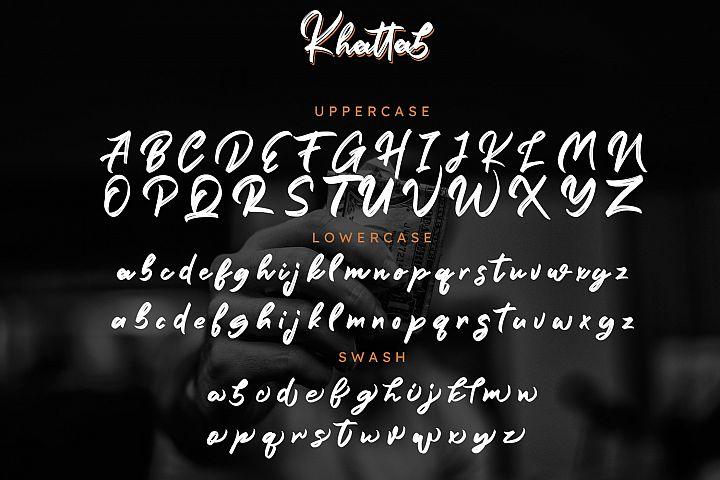 Khattab Brush Font example image 9