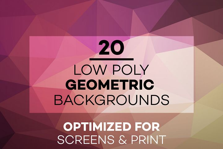 20 Low Poly Geometric Backgrounds