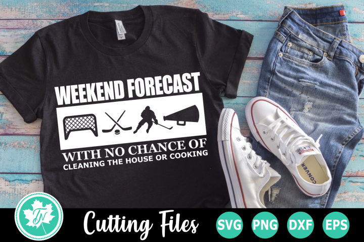 Weekend Forecast Hockey - A Sports SVG Cut File