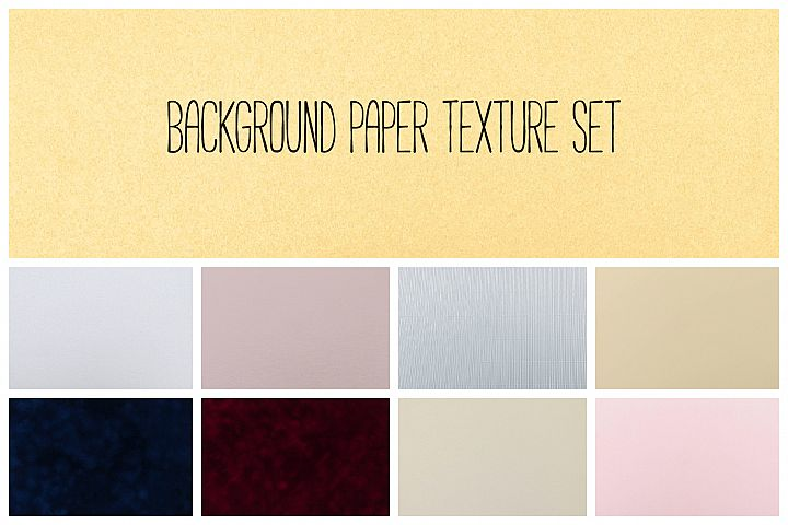 Set of 9 texture paper background