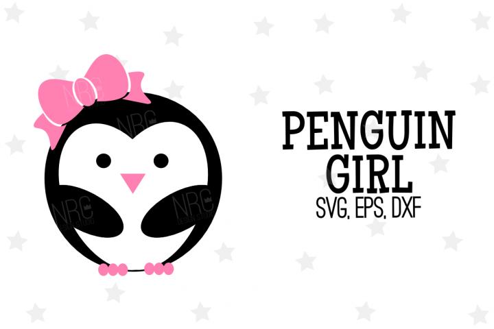 Penguin Girl SVG File