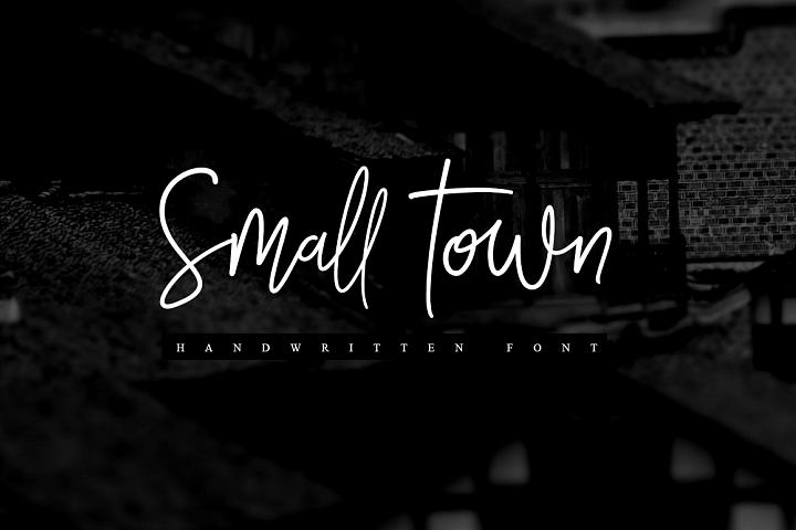 Smalltown handwritten font