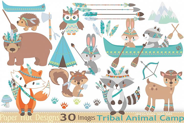 Tribal Animals Clipart