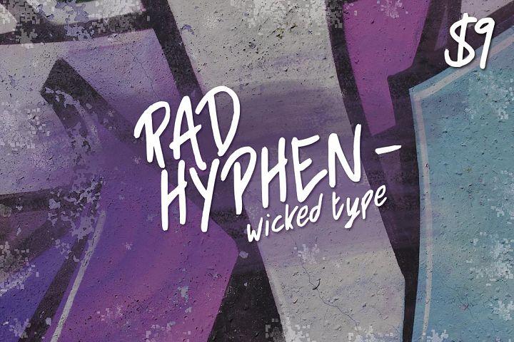 Rad Hyphen Font