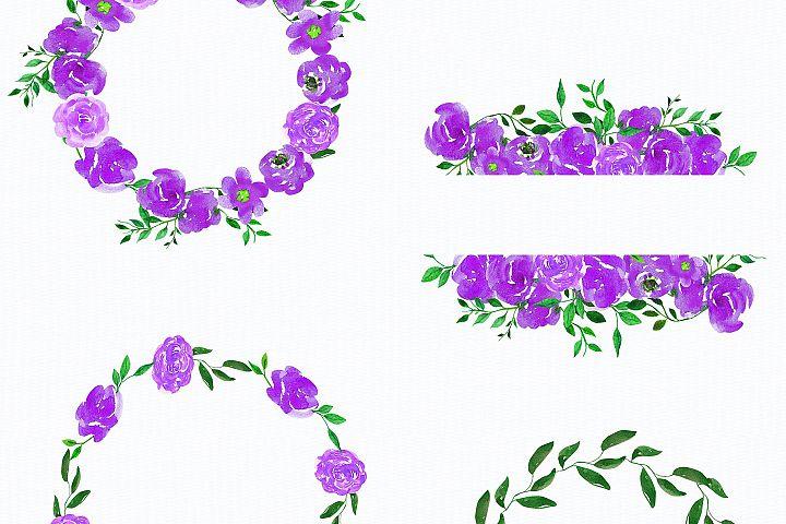 Wedding, Wedding Invitation Clipart, watercolor Flowers example 2
