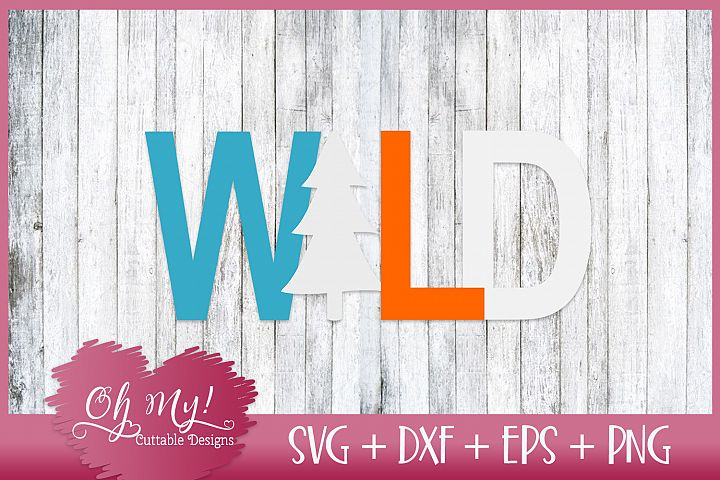 WILD - SVG DXF EPS PNG