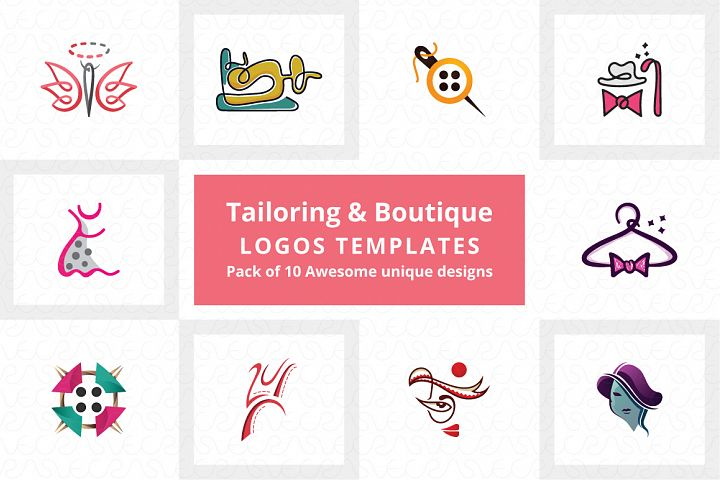 Tailoring & Boutique Logo Templates Pack of 10
