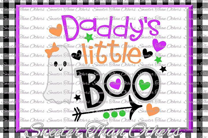 Halloween svg, Daddys Little Boo Svg, Boo Ghost Design