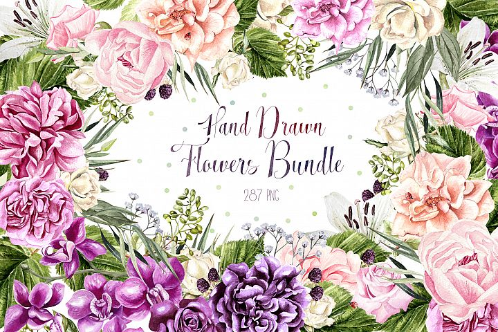 Hand Drawn Watercolor BUNDLE 5