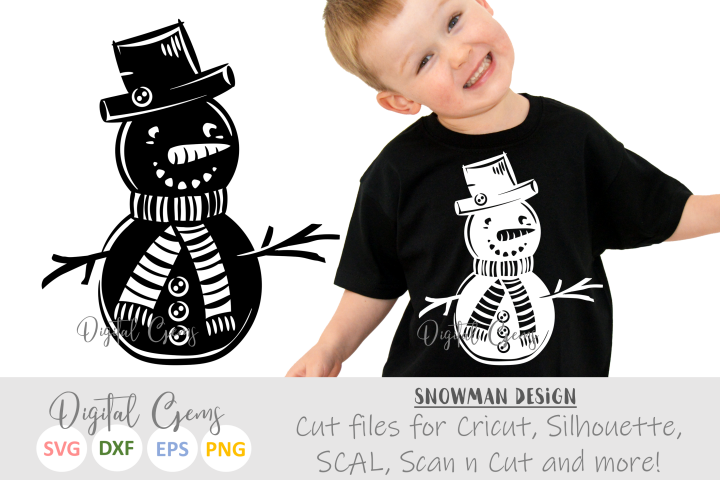 Snowman SVG / PNG / EPS / DXF files