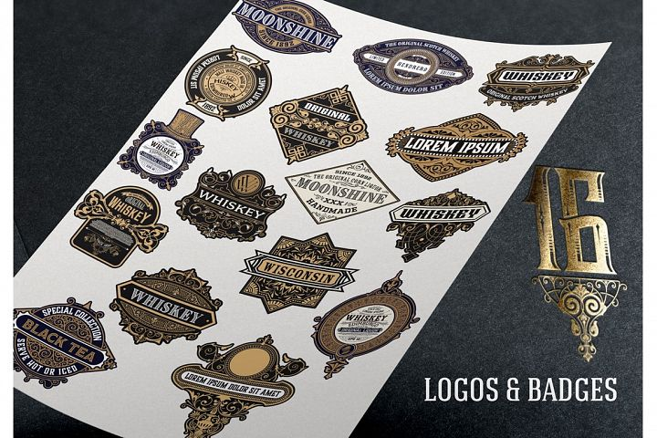 16 Ornamental Logos and Badges