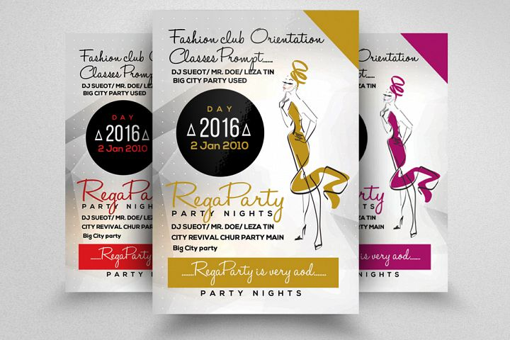 Fashion Oriented Flyer 130077 Flyers Design Bundles