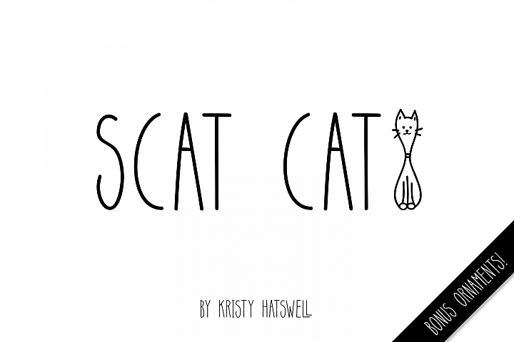 Scat Cat - Free Font of The Week