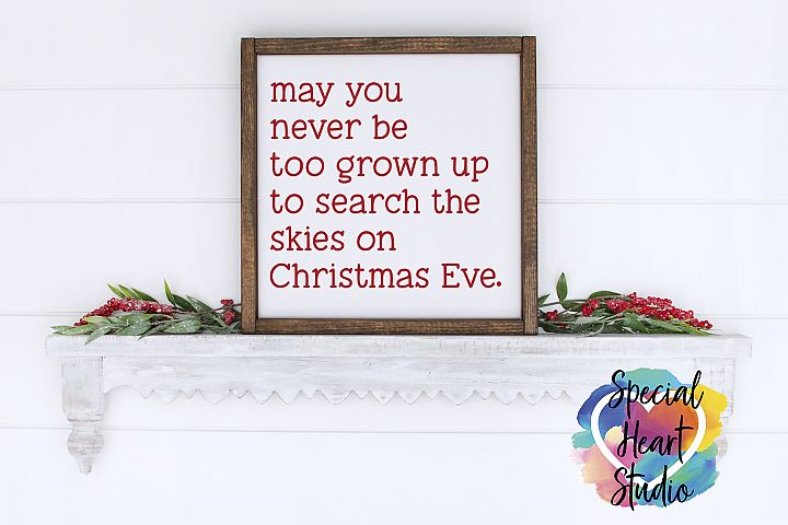 Christmas Eve Skies - A Christmas SVG Cut