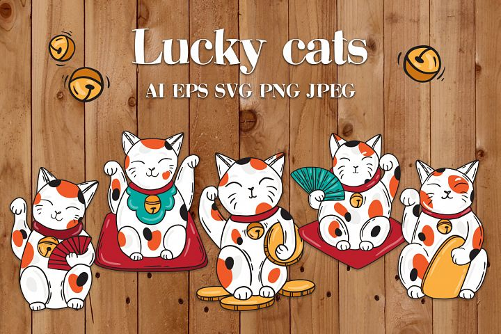 Lucky cats Maneki Neco