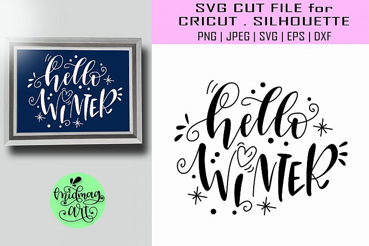 Hello winter svg, winter svg, christmas sign svg