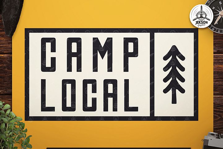 Vintage Camp Local Logo / Retro Typography Badge Travel SVG