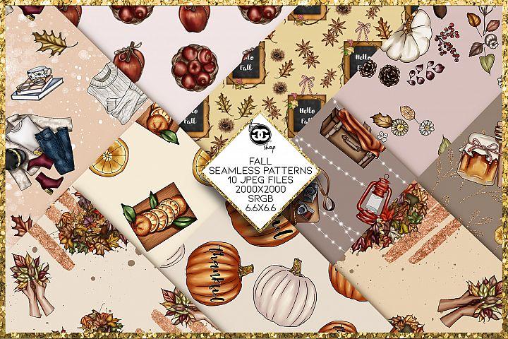 10 Fall seamless patterns