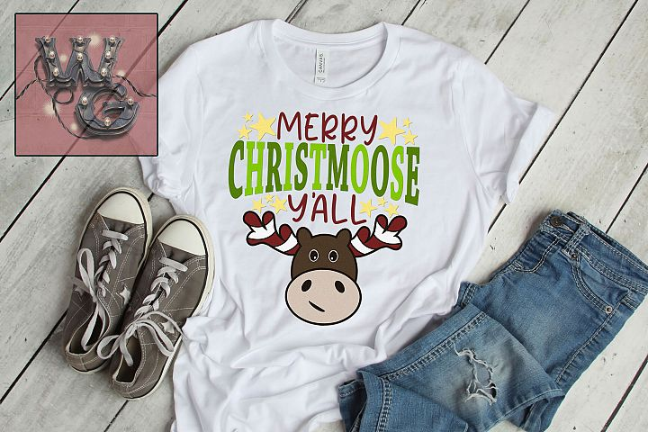 Merry Christmoose Yall SVG DXF PNG JPG Commercial