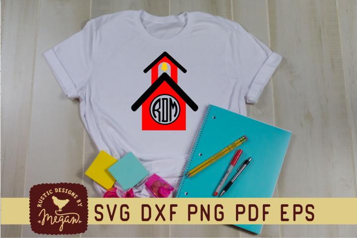 Back To School Monogram SVG