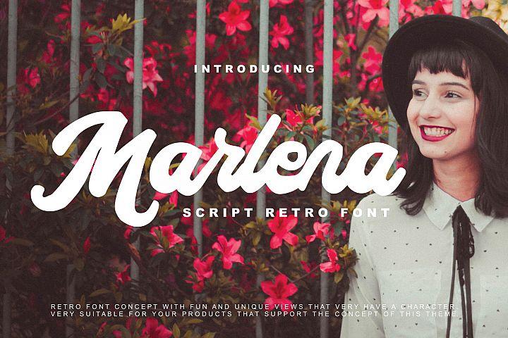 Marlena - Script Retro Font